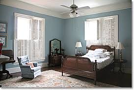 Southern Colonial Bedroom In Aqua Blue And White
