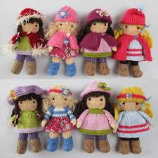 Little Belles - Small Knitted Dolls | Double knitting, Knitting ...