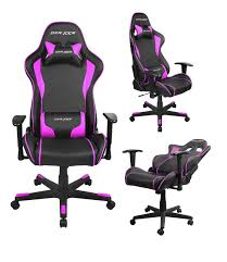 dxracer gaming chair fe08 leather black pink free