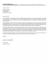 Nursing Cover Letter For Resume Student New Nurse Samples Sample