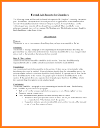 How To Write A Formal Lab Report For Chemistry 7 Formal Lab Report Example Chemistry 952 Limos