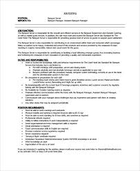 Server Job Description On Resume   Resume CV Cover Letter thevictorianparlor co