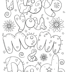 Love You Coloring Pages Coloring Pages Free Printable Coloring For