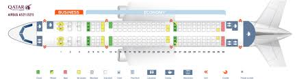 321 Seating Chart Seat Map Airbus A321 200 Qatar Airways Best Seats In The Plane