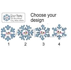 Snowflake Stickers Christmas Address Label Personalized Return Address Label Stickers Address Labels Snowman Tags From Paper Ornamentals