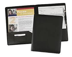 Resume Portfolio Folder 4 Leather Presentation Document Binder