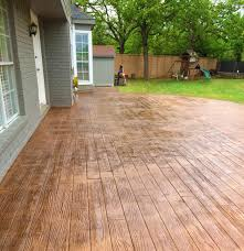 interesting patio small deck ideas backyard wood ideas in wood stamped concrete patio d