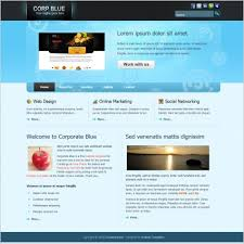 Free Html Website Templates Unique Corporate Blue Free Website Templates In Css Js Format For