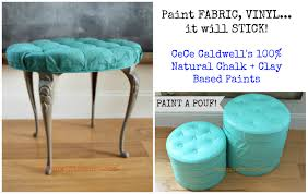How to Paint Fabric or Vinyl using CeCe Caldwell's Paints - Redoux Interiors