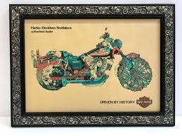 harley davidson motorcycle art framed