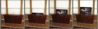Retractable tv mount Framed Tv Picture Of Disappearing Tv With Pop Up Tv Lift Mounted Behind Furniture Theyogatreeme Disappearing Tv With Pop Up Tv Lift Mounted Behind Furniture