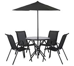 HOME Corner Rattan Glass Table Top Dining Set With Cushions From Argos Outdoor Furniture Sets