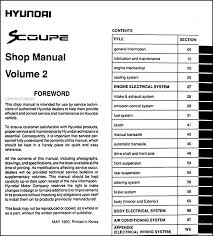 1994hyundaiscoupeorm toc2 jpg this manual covers all 1994 hyundai scoupe models including turbo