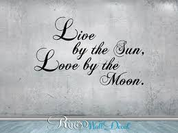 sun wall decal trendy designs: live by the sun love by the moon wall decal vinyl sticker home decor wall