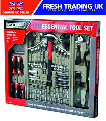 mastergrip 129 piece tool set diy home garage work tools with case 1 of 1free see more
