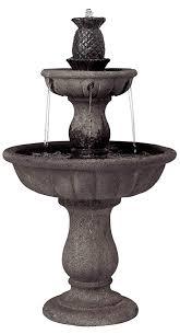com john timberland italian classic two tier outdoor floor water fountain 37 high for yard garden home patio deck entryway free standing garden