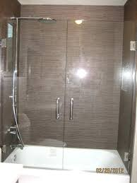 swinging shower doors latest glass shower doors over tub with double swing shower door over tub
