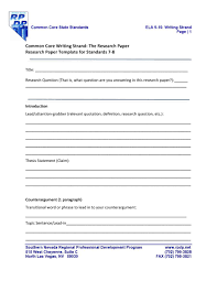 Mla Style Research Paper Template Free Format Templates