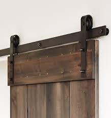 118 track matte black bent strap barn door hardware kit for door widths up to 60