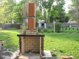 small outdoor fireplace planning
