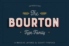 Bourton Font Family of 34 Fonts \u0026 More from Kimmy Design - only ...