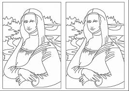 Small Picture Download Coloring Pages Mona Lisa Coloring Page Mona Lisa