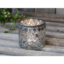 chic antique tealightholder with silver decor antique silver