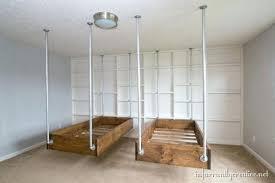 diy hanging bed plans hanging bunk beds plans image arcade diy outdoor hanging bed plans