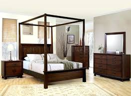 Wood Canopy Bed Rustic Alder White Full – Peterjan