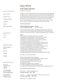cv for call center