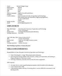 Telecommunication Resume Electronics Resume Template 8 Free Word Pdf Document
