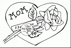 I Love Mom Coloring Pages Printable Printable Coloring Page For Kids