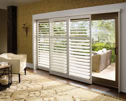 gorgeous patio door shutters sliding glass door plantation shutters traditional living house decorating pictures