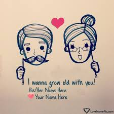 write name on wallpaper of couple and