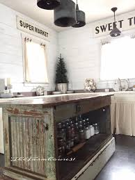 vintage farmhouse kitchen islands antique bakery counter for