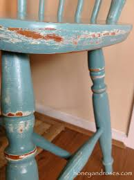 how to distress furniture with chalkt new makeover of pine kitchen chair using honey roses