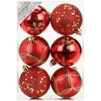 Suchergebnis Auf Amazonde Für 6 Weihnachtskugeln Rot 8 Cm