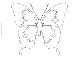 Printable Butterfly Outline Butterfly Template To Print