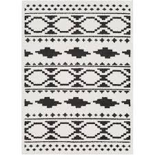 7 x 10 large charcoal gray black and white area rug moroccan rc willey furniture