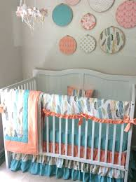 peach baby bedding baby girl crib bedding set in blush pink navy denim blue peach dream peach baby bedding