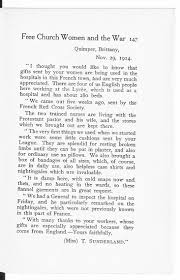 women at home in a world at war the british library letter from a nurse working in brittany in 1914 the letter was reprinted in