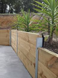 timber retaining wall designs