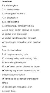 Berilah tanda silang ( x ) pada salah satu huruf a, b, c, atau d yang merupakan jawaban paling benar ! Kunci Jawaban Penjas Kelas 9 Halaman 63 Brainly Co Id