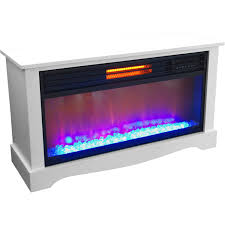 lifesource 20 tall heater fireplace with color change led affect white cabinet com