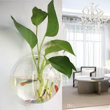 wall fish bowl hanging vase aquarium