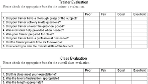 Survey Template Examples Training Evaluation Form Word Survey