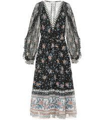 Romilly Printed Silk Midi Dress