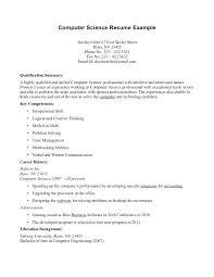 Computer Science Resume Sample Stunning Scientific Resume Examples Scientist Resume Examples Great