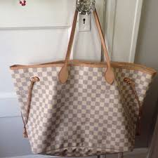 louis vuitton neverfull sizes. louis vuitton neverfull gm (large size) damier azur canvas authentic box included #designer #luxury #brandname #authentic #original #louisvuitton #lv no sizes i