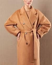 <b>Пальто двубортное на</b> поясе с шелком в интернет-магазине ...